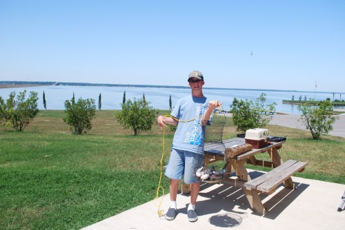 Fishing at Lake Livingston