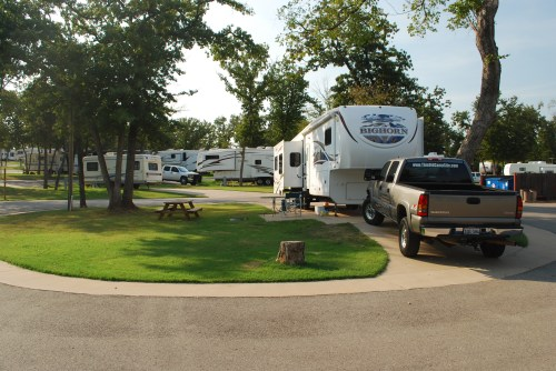 Campsite at Twin Fountains RV Park