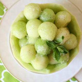 Melon Salad with Honey Mint Dressing
