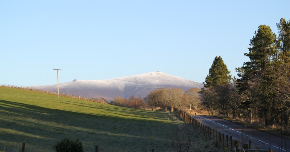The View of Ben Rinnes from our B&B
