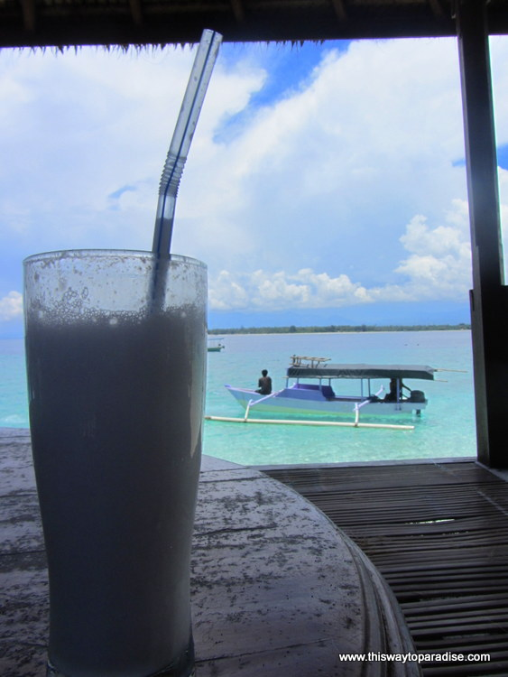 Coconut juice on Gili Meno, Gili Islands