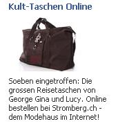 """Facebookwerbung """"Kult-Taschen"""""""