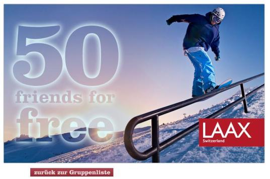 Laax - 50 Friends for Free