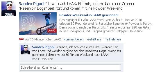 Laax Powder-Weekend - 2. bis 3. Januar 2010