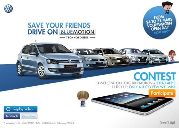 VW BlueMotion Video mit Facebook Connect