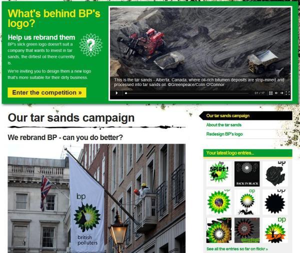 Greenpeace BP Rebrand Kampagne