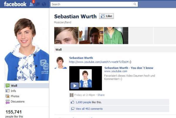 Eine der vielen Sebastian Wurth Facebookseiten