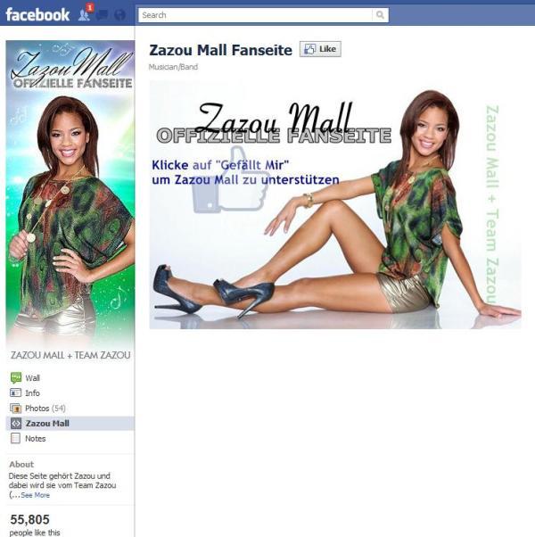 Eine der vielen Zazou Mall Fanseiten auf Facebook