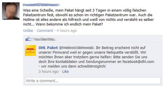 """Zensur""-Versuch via Netiquette-Formulierung"