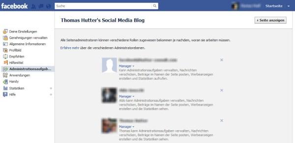 Facebook Adminrollen definieren
