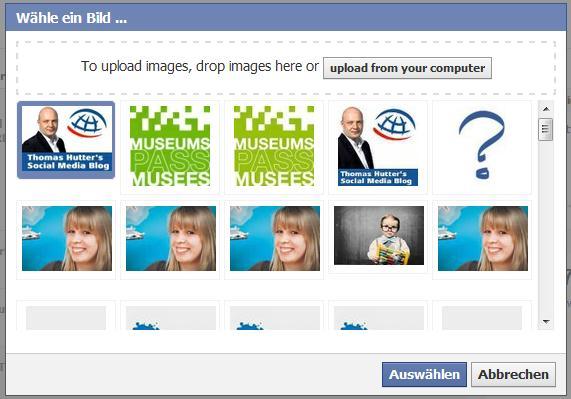 Bildergalerie der bereits hochgeladenen Bilder im Anzeigenmanager