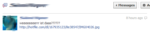 """""""weeeristddaasss""""-Trojaner-Meldung in Facebook"""
