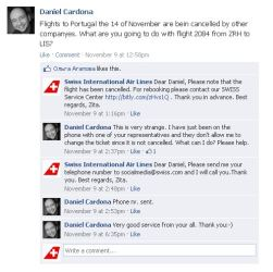 Beispiel Kundendialog auf der Facebook Seite