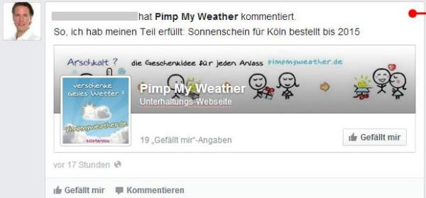 "User Story ""kommentieren"" im News Feed"
