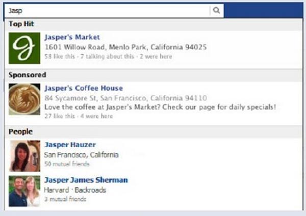 Facebook Sponsered Result