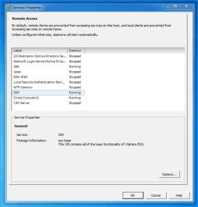 Enable SSH on ESXi 5.0 vis vSphere Client