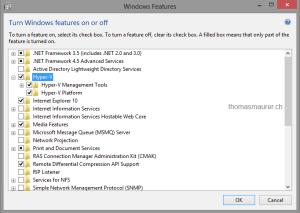 Windows 8 Hyper-V Feature