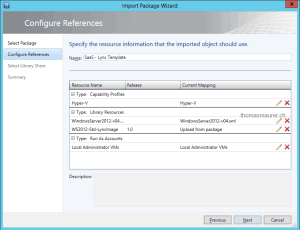 Import Templates in Virtual Machine Manager resources