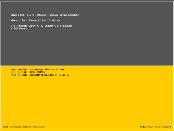 Enable SSH on VMware ESXi 5.5