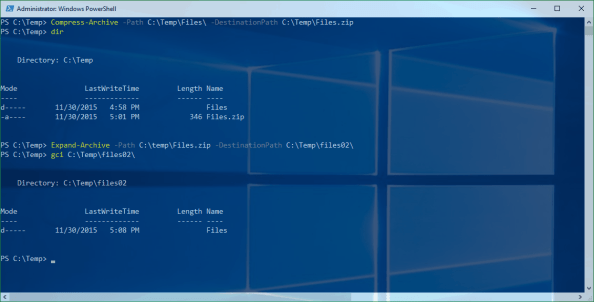 PowerShell Compress-Archive