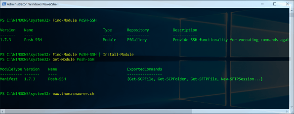 PowerShell SSH Installation