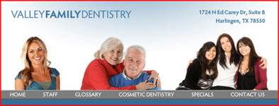 image of Valley Dentistry web site
