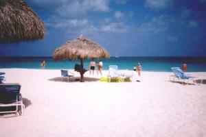 Beach Hut at Palm Beach in Aruba
