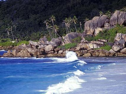 07.Seychelles tropical islands Seychelles paradise  Roches erodees