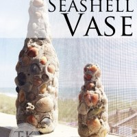 Super Easy Seashell Vase