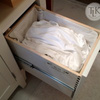 Turn A Cabinet Into A Clothes Hamper