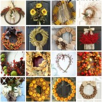 Pinterest Round Up - Fall Wreath Inspiration
