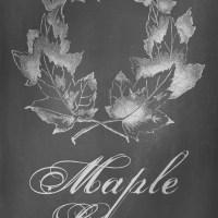 Digital Goodie Day – Autumn Chalkboard Art – Maple Leaves