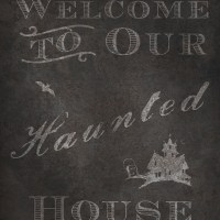 31 Days of Halloween Digital Goodies - Welcome to Our Haunted Home Rustic Sign