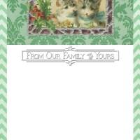 Digital Goodie Day - Merry Christmas Kitties Card Template