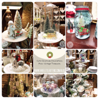 Cute Christmas Decorations From Vintage Treasures