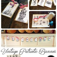 Digital Goodie Day - Vintage Patriotic Banner