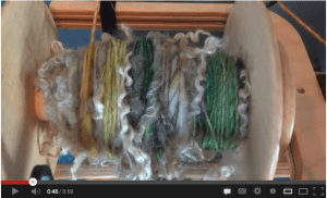 Maegan Burkart of Little Patch Alpacas has a great video on spinning locks into singles.