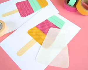 Cute popsicle card tutorial from Omiyage Blogs! Photo: Omiyage Blogs