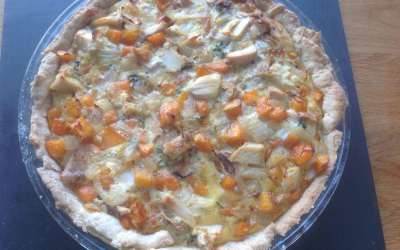 Chicken & Vegetable Tart, delicious hot or cold, 44p a serving