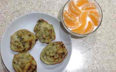 Christmas Meal Plan – Stilton Jackets with Clementines & Yogort for pudding, 73p each