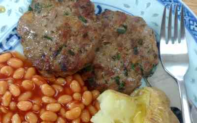 Home made sausages