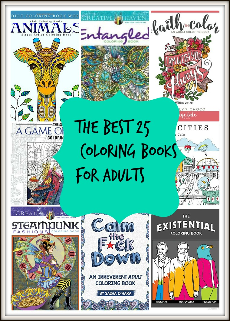 the best 25 coloring books for every personality