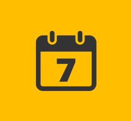 calendar yellow