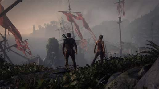 Uncharted 4 photo mode - pirate ship graveyard