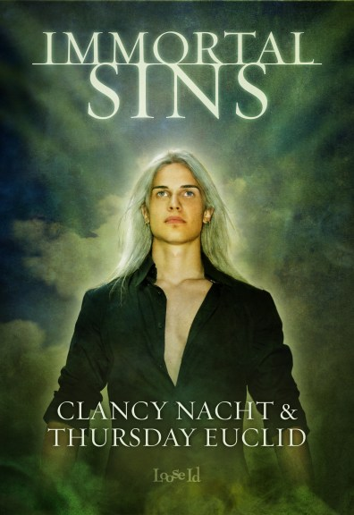 Immortal Sins book cover; written by Clancy Nacht & Thursday Euclid, art by April Martinez
