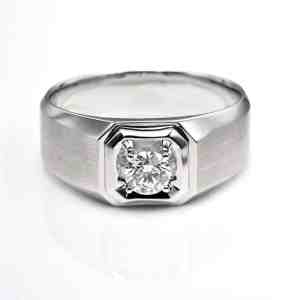 Perhiasan emas berlian white gold 18K diamond DHTXHJZ034