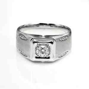 Perhiasan emas berlian white gold 18K diamond DHTXHJZ051