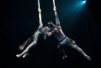 Duo ariel acrobatics