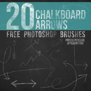 FREE Photoshop Brushes: 20 Chalkboard Art Arrows