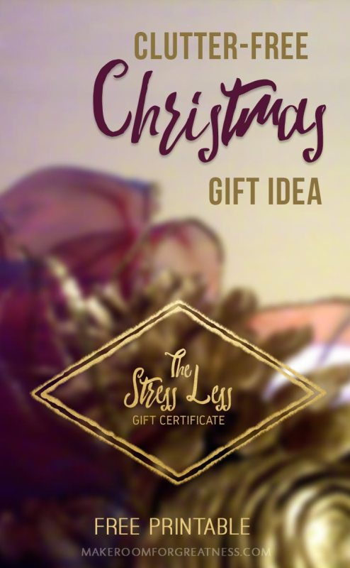 Awesome Clutter-Free Christmas Gift Idea! For Less Holiday Stress.